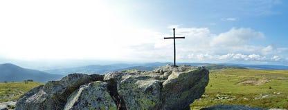 небо панорамы горы фильтра померанцовое Стоковая Фотография