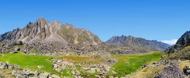 небо панорамы горы фильтра померанцовое Стоковое Изображение