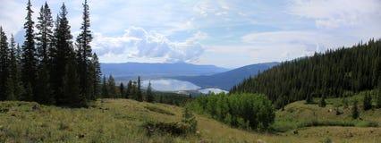небо панорамы горы фильтра померанцовое Стоковая Фотография RF