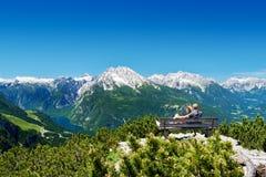 небо панорамы горы фильтра померанцовое Стоковое Фото