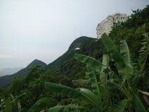 небо панорамы горы фильтра померанцовое Стоковое фото RF