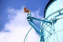 Небо парохода воронки и свистка голубое стоковые фотографии rf