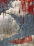 небо пасмурного изображения предпосылки ретро Стоковая Фотография