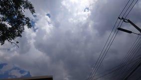 Небо перед штормом стоковое фото