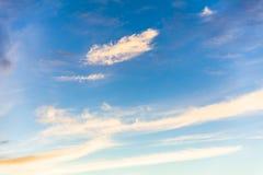 Небо перед заходом солнца Стоковые Изображения RF