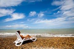 небо пляжа Стоковая Фотография