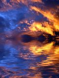 небо пожара Стоковые Фотографии RF