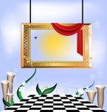 небо портрета золота рамки Стоковые Фото
