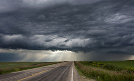 Небо прерии облаков шторма Стоковые Фото