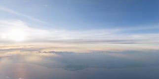 Небо предпосылки в заходе солнца Стоковое Изображение