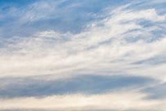 Небо предпосылки заволакивает кумулюс Стоковые Фото
