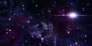 небо предпосылки звёздное Стоковые Фотографии RF