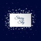небо предпосылки звёздное Стоковое Фото