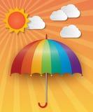 небо предпосылки солнечное Стоковые Изображения RF