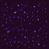 Небо предпосылки темное с яркими звездами Стоковые Изображения RF
