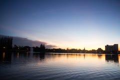 небо природы вечера состава предпосылки Состав природы Стоковое Изображение