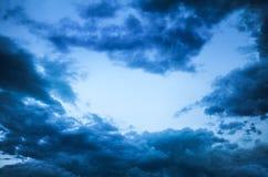 небо природы вечера состава предпосылки Стоковое Изображение