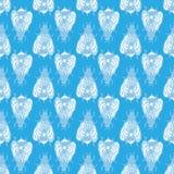 небо пчелы голубое картина безшовная Стоковые Изображения RF