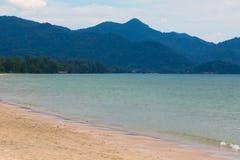 Небо пляжа песка Стоковые Фото