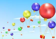 небо рождества шариков бесплатная иллюстрация