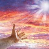 небо руки Стоковые Изображения