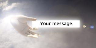 небо руки Стоковая Фотография