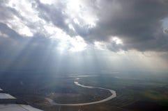 небо самолета Стоковое Изображение