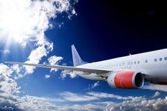 небо самолета Стоковая Фотография