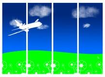 небо самолета Стоковые Фото