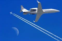 небо самолетов Стоковая Фотография