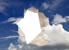 небо свища в металле стоковое изображение