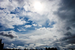 Небо Сент-Эндрюса, Шотландии Стоковое фото RF