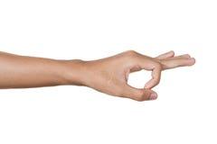 небо сигнала голубой руки людское Стоковые Фото