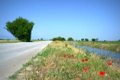 небо Сицилии дороги панорамы страны облаков сини воздуха открытое Стоковое фото RF