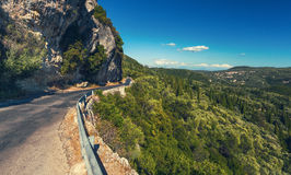 небо Сицилии дороги панорамы страны облаков сини воздуха открытое Стоковое Изображение RF