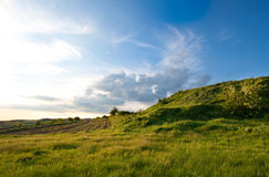 небо сочного выгона сельской местности Стоковые Фотографии RF