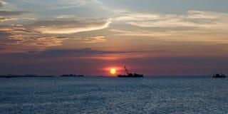 Небо Солнця установленное Стоковые Изображения RF
