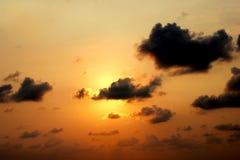 Небо Солнця установленное Стоковое Изображение