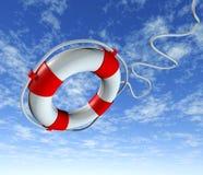 небо спасения спасательного жилета помощи пояса иллюстрация вектора