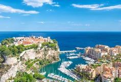 Небо Средиземного моря Марины Монако Fontvieille Монако голубое стоковое изображение
