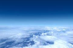 небо съемки самолета Стоковое фото RF
