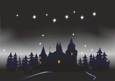 Небо с звездами иллюстрация штока