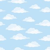 Небо с облаками, безшовными бесплатная иллюстрация