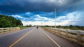 Дорога Камбоджа Стоковое Изображение RF