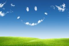 небо травы облака Стоковые Фотографии RF