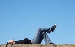 небо удовольствия людей вниз Стоковые Фотографии RF