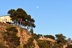 небо луны Стоковое Фото