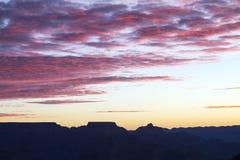 Небо утра гранд-каньона Стоковые Фотографии RF