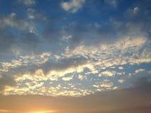 Небо утра расслабляющее Стоковые Изображения RF