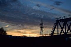 Небо фантастического русского захода солнца волшебное стоковые изображения rf